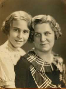 A photo of two women from the 1930s