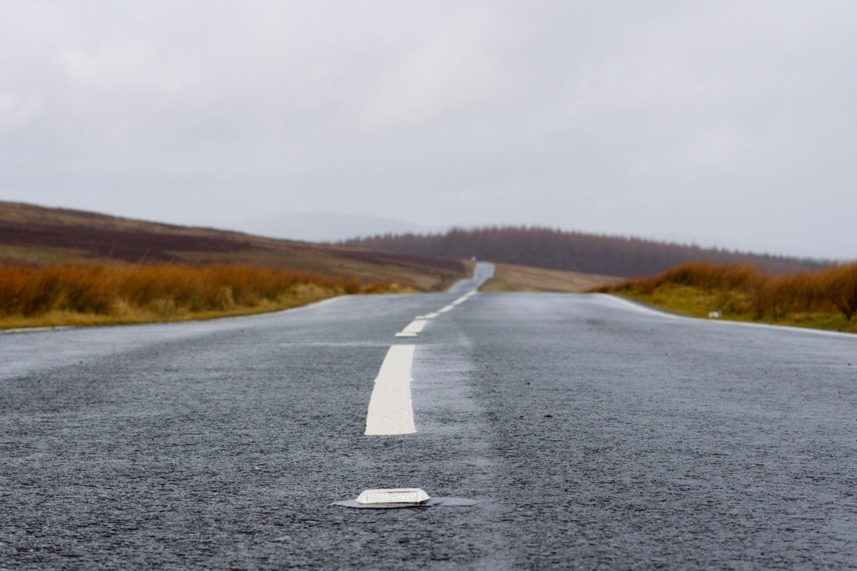 Photograph of an open road.