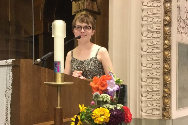 Laura at SJW Welcome Ritual