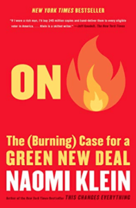 """April Book Club Book: """"On Fire"""" by Naomi Klein"""