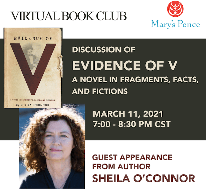 Invitation to book club with Sheila O'Connor Book Club