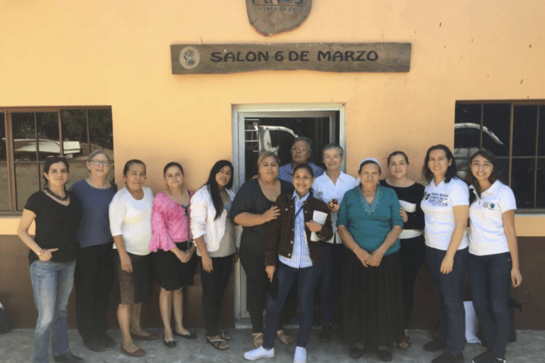 Some of Mary's Pence staff and board pictured with CESPPO-CLAC during a preliminary visit to El Salvador.